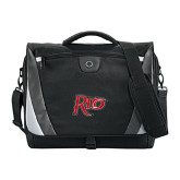 Slope Black/Grey Compu Messenger Bag-Rio