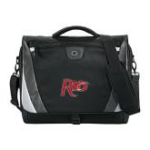 Slope Black/Grey Compu Messenger Bag-Rio