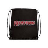 Black Drawstring Backpack-RedStorm