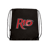 Black Drawstring Backpack-Rio