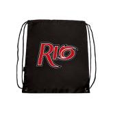 Black Drawstring Backpack-Rio