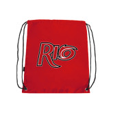 Red Drawstring Backpack-Rio