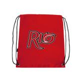 Red Drawstring Backpack-Rio