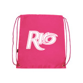 Pink Drawstring Backpack-Rio