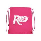 Pink Drawstring Backpack-Rio