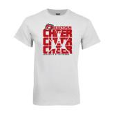 White T Shirt-Cheer Stacked