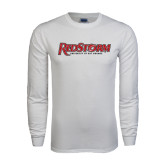 White Long Sleeve T Shirt-RedStorm