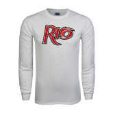 White Long Sleeve T Shirt-Rio Distressed