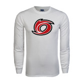 White Long Sleeve T Shirt-Cyclone O