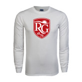 White Long Sleeve T Shirt-Shield Logo