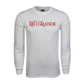 White Long Sleeve T Shirt-Institutional Mark