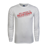 White Long Sleeve T Shirt-RedStorm Basketball