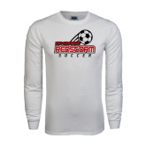 White Long Sleeve T Shirt-RedStorm Soccer