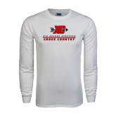 White Long Sleeve T Shirt-XC Cross Country