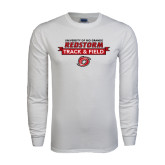 White Long Sleeve T Shirt-Banner Track & Field