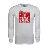 White Long Sleeve T Shirt-Cheer Stacked