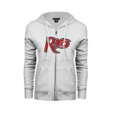 ENZA Ladies White Fleece Full Zip Hoodie-Rio