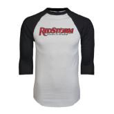 White/Black Raglan Baseball T-Shirt-RedStorm