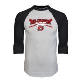 White/Black Raglan Baseball T-Shirt-Rio Grande Baseball