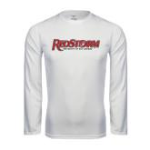 Performance White Longsleeve Shirt-RedStorm