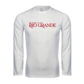 Syntrel Performance White Longsleeve Shirt-Institutional Mark