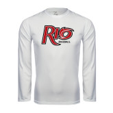 Performance White Longsleeve Shirt-Baseball
