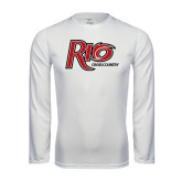 Performance White Longsleeve Shirt-Cross Country