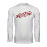 Performance White Longsleeve Shirt-RedStorm Basketball