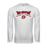 Performance White Longsleeve Shirt-Rio Grande Baseball