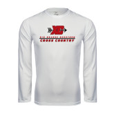 Performance White Longsleeve Shirt-XC Cross Country