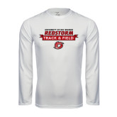 Syntrel Performance White Longsleeve Shirt-Banner Track & Field