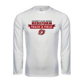 Performance White Longsleeve Shirt-Banner Track & Field