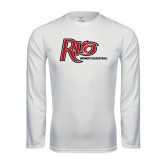 Performance White Longsleeve Shirt-Basketball-Womens