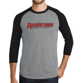 Grey/Black Tri Blend Baseball Raglan-RedStorm