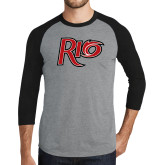 Grey/Black Tri Blend Baseball Raglan-Rio