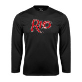 Performance Black Longsleeve Shirt-Rio