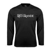 Performance Black Longsleeve Shirt-Institutional Mark