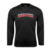 Syntrel Performance Black Longsleeve Shirt-Arched RedStorm Bottom