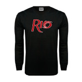 Black Long Sleeve TShirt-Rio Distressed