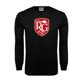 Black Long Sleeve TShirt-Shield Logo