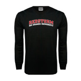 Black Long Sleeve TShirt-Arched RedStorm Top