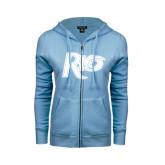ENZA Ladies Light Blue Fleece Full Zip Hoodie-Rio