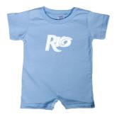 Light Blue Infant Romper-Rio