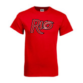 Red T Shirt-Rio Distressed