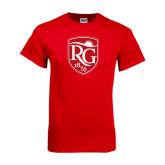 Red T Shirt-Shield Logo