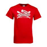 Red T Shirt-Softball Crossed Bats