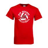 Red T Shirt-Circular Volleyball