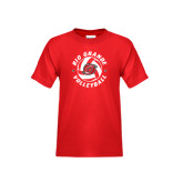 Youth Red T Shirt-Circular Volleyball