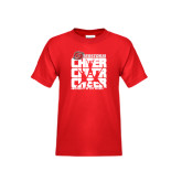 Youth Red T Shirt-Cheer Stacked