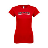 Next Level Ladies SoftStyle Junior Fitted Red Tee-Arched RedStorm Top